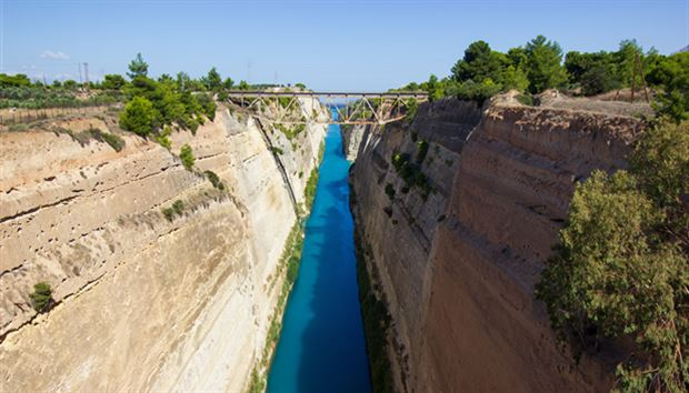 Corinth Canal closed for the foreseeable future