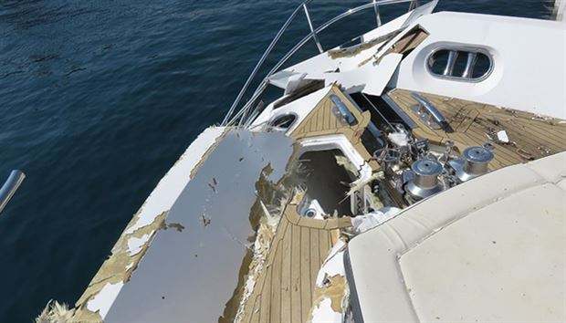 Accident report - MYs Minx and Vision, near Cannes