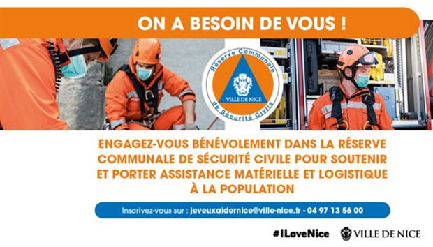 Appeal for volunteers in Nice